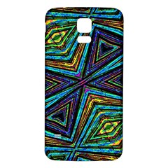 Tribal Style Colorful Geometric Pattern Samsung Galaxy S5 Back Case (White)