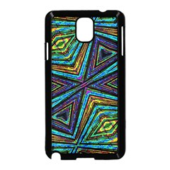 Tribal Style Colorful Geometric Pattern Samsung Galaxy Note 3 Neo Hardshell Case (Black)