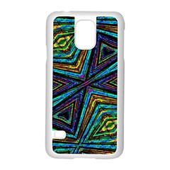Tribal Style Colorful Geometric Pattern Samsung Galaxy S5 Case (White)
