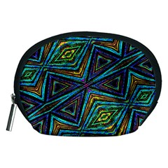 Tribal Style Colorful Geometric Pattern Accessory Pouch (Medium)