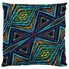 Tribal Style Colorful Geometric Pattern Large Flano Cushion Case (One Side)