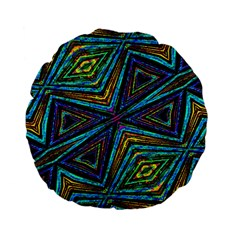 Tribal Style Colorful Geometric Pattern 15  Premium Flano Round Cushion