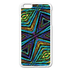 Tribal Style Colorful Geometric Pattern Apple iPhone 6 Plus Enamel White Case