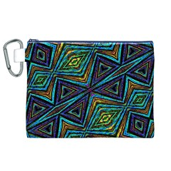 Tribal Style Colorful Geometric Pattern Canvas Cosmetic Bag (XL)