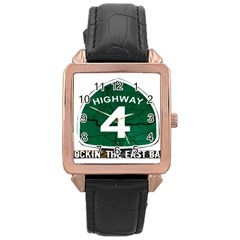 Hwy 4 Website Pic Cut 2 Page4 Rose Gold Leather Watch