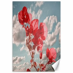 Flowers In The Sky Canvas 12  X 18  (unframed)