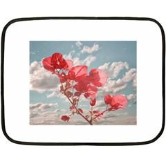 Flowers In The Sky Mini Fleece Blanket (Two Sided)