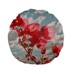 Flowers In The Sky 15  Premium Round Cushion