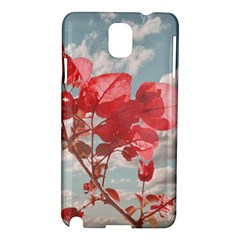 Flowers In The Sky Samsung Galaxy Note 3 N9005 Hardshell Case