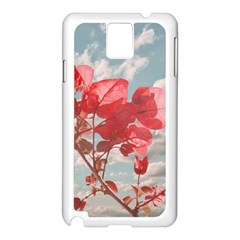 Flowers In The Sky Samsung Galaxy Note 3 N9005 Case (White)