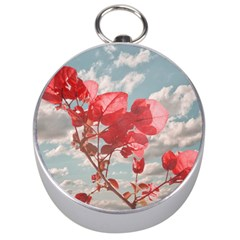 Flowers In The Sky Silver Compass