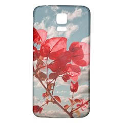 Flowers In The Sky Samsung Galaxy S5 Back Case (White)