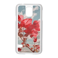 Flowers In The Sky Samsung Galaxy S5 Case (White)