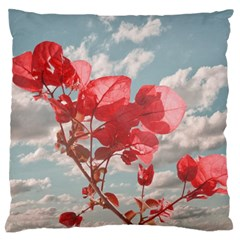 Flowers In The Sky Large Flano Cushion Case (one Side)