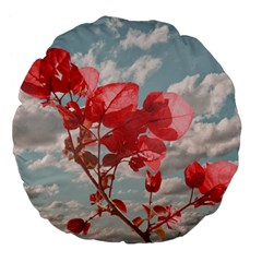 Flowers In The Sky 18  Premium Flano Round Cushion