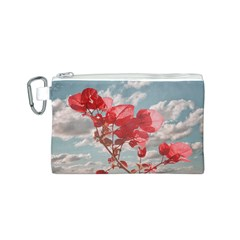 Flowers In The Sky Canvas Cosmetic Bag (small)