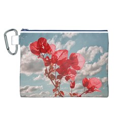Flowers In The Sky Canvas Cosmetic Bag (Large)