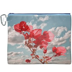 Flowers In The Sky Canvas Cosmetic Bag (XXXL)