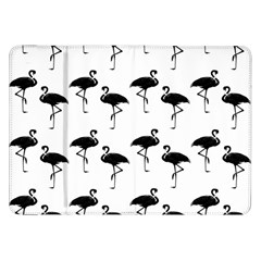 Flamingo Pattern Black On White Samsung Galaxy Tab 8.9  P7300 Flip Case