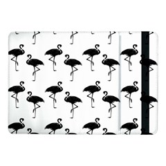 Flamingo Pattern Black On White Samsung Galaxy Tab Pro 10 1  Flip Case