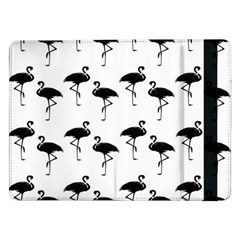 Flamingo Pattern Black On White Samsung Galaxy Tab Pro 12.2  Flip Case