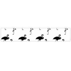 Flamingo Pattern Black On White Flano Scarf (Large)