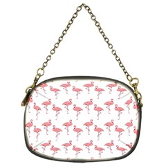 Pink Flamingo Pattern Chain Purse (two Sided)