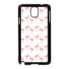 Pink Flamingo Pattern Samsung Galaxy Note 3 Neo Hardshell Case (Black)