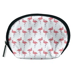 Pink Flamingo Pattern Accessory Pouch (medium)