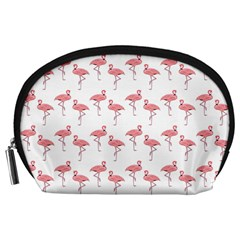 Pink Flamingo Pattern Accessory Pouch (Large)
