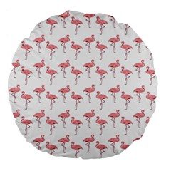 Pink Flamingo Pattern 18  Premium Flano Round Cushion