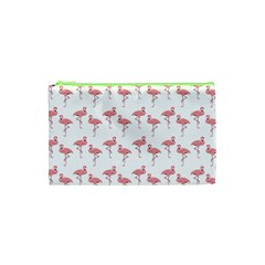 Pink Flamingo Pattern Cosmetic Bag (xs)