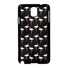 Pink Flamingo Pattern On Black  Samsung Galaxy Note 3 Neo Hardshell Case (Black)