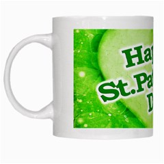 Unique Happy St. Patrick s Day Design White Coffee Mug