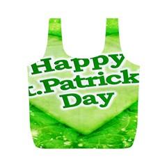 Unique Happy St. Patrick s Day Design Reusable Bag (M)