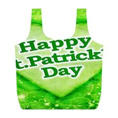 Unique Happy St. Patrick s Day Design Reusable Bag (L)