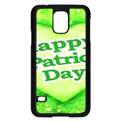 Unique Happy St. Patrick s Day Design Samsung Galaxy S5 Case (Black)
