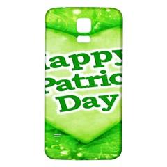 Unique Happy St. Patrick s Day Design Samsung Galaxy S5 Back Case (White)