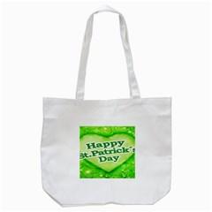 Unique Happy St. Patrick s Day Design Tote Bag (White)