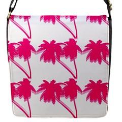 Palm Tree Pink Pattern Flap Closure Messenger Bag (Small)