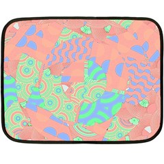 Tropical Summer Fruit Salad Double Sided Fleece Blanket (mini)