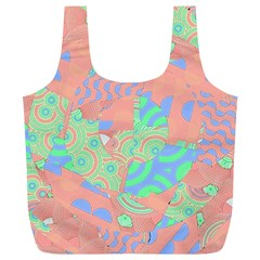 Tropical Summer Fruit Salad Full Print Recycle Bag (xl)