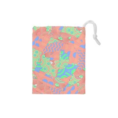 Tropical Summer Fruit Salad Drawstring Pouch (Small)