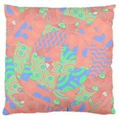 Tropical Summer Fruit Salad Large Flano Cushion Case (Two Sides)