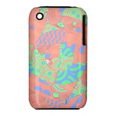 Tropical Summer Fruit Salad Apple iPhone 3G/3GS Hardshell Case (PC+Silicone)