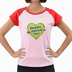Happy St Patricks Day Design Women s Cap Sleeve T Shirt (colored)