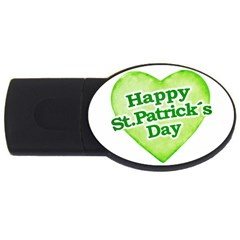 Happy St Patricks Day Design 2GB USB Flash Drive (Oval)