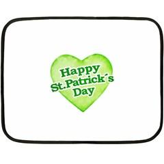 Happy St Patricks Day Design Mini Fleece Blanket (Two Sided)