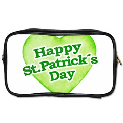 Happy St Patricks Day Design Travel Toiletry Bag (Two Sides)