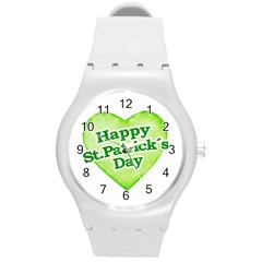 Happy St Patricks Day Design Plastic Sport Watch (Medium)